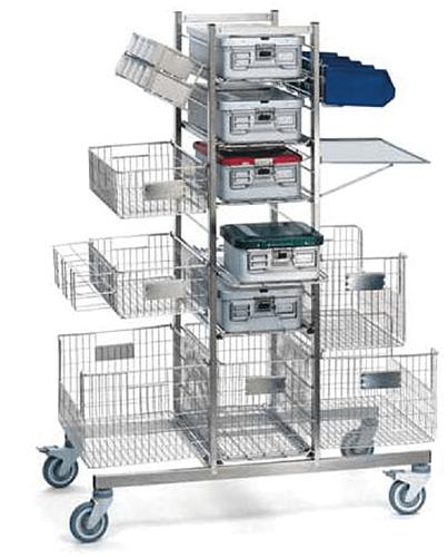 Chariot Stéricaddie spécial containers pour hôpitaux