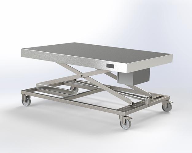 Chariot Table Élevatrice Électrique pour laboratoires